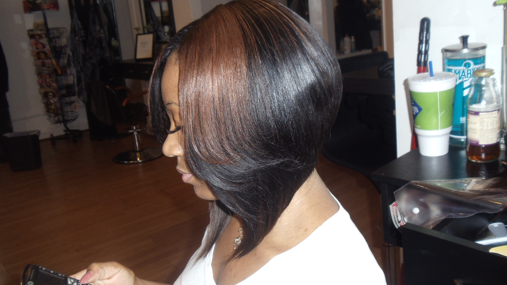 ... medium length bob hairstyle with weaves medium length bob